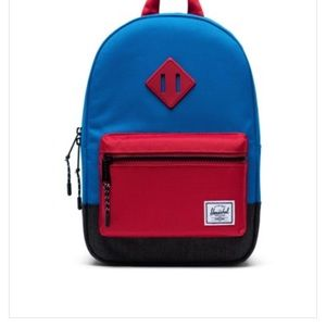 BNWT Herschel Supply Co Kids Blue and Red Backpack
